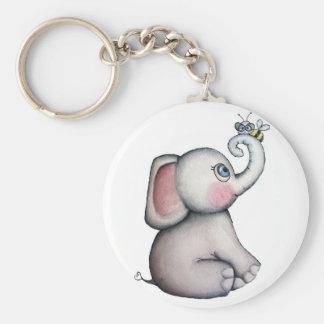 Porte-clés Éléphant de bébé avec le porte - clé d'abeille