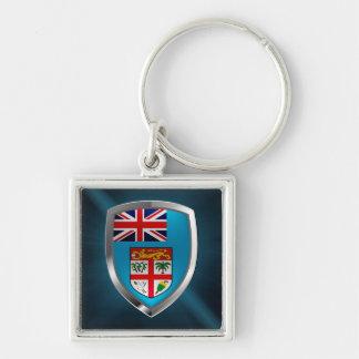 Porte-clés Emblème des Fidji Mettalic