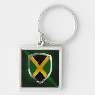 Porte-clés Emblème métallique de la Jamaïque