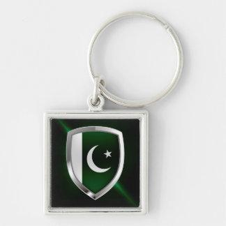 Porte-clés Emblème métallique du Pakistan