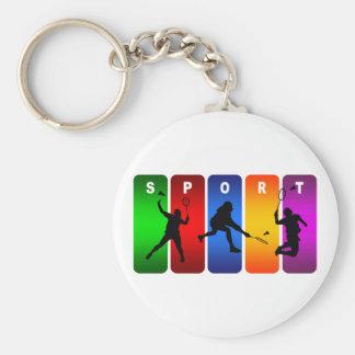 Porte-clés Emblème multicolore de badminton