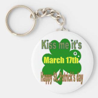Porte-clés embrassez-moi que c'est jour de St Patricks