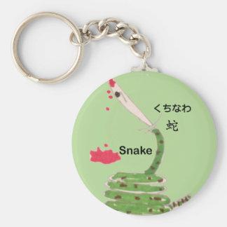 Porte-clés emoji de serpent