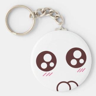 Porte-clés Emoji mignon de kawaii de minou