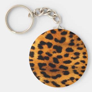 Porte-clés empreinte de léopard tribal d'animal de safari de