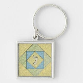 Porte-clés Empreinte de pas dans le sable