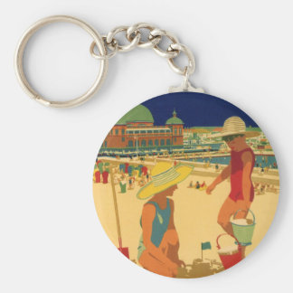 Porte-clés Enfants vintages, vacances de famille de soeurs à