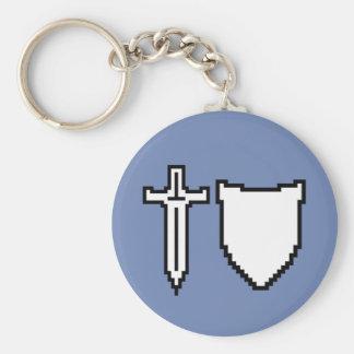 Porte-clés Épée d'art de pixel et porte - clé de bouclier