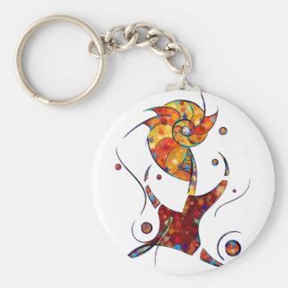Porte-clés Espanessua - fleur en spirale imaginaire