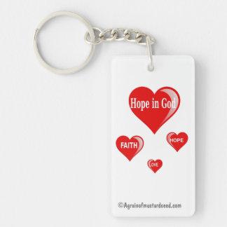 Porte-clés Espoir dans Dieu