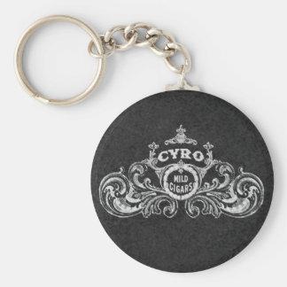 Porte-clés Étiquette vintage de tabac de cigares doux de Cyro