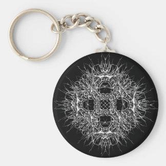 Porte-clés étoile dark métal