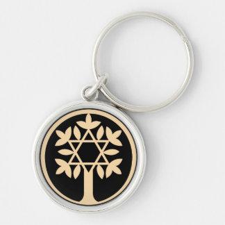 Porte-clés Étoile de David - arbre de la vie Keychain.