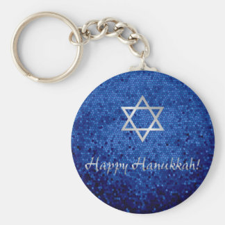 Porte-clés Étoile de David heureuse de Hanoukka