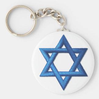 Porte-clés Étoile de David juive