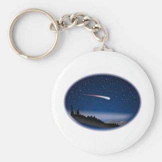 Porte-clés Étoile filante au-dessus de paysage de nuit