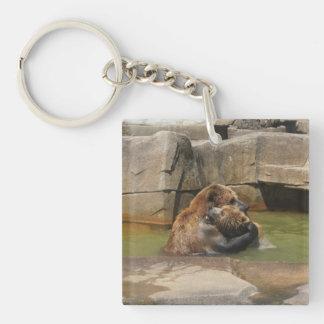 Porte-clés Étreinte d'ours