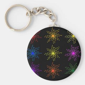 Porte-clés Explosions comiques colorées