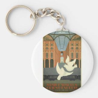 Porte-clés Express vintage de Milan l'orient de voyage