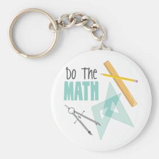 Porte-clés Faites les maths