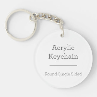 Porte-clés Faites votre propre porte - clé rond