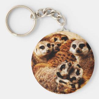 Porte-clés Famille de Meerkats