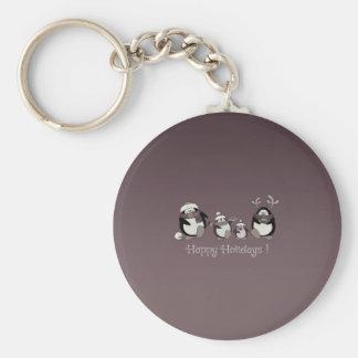 Porte-clés Famille de pingouin