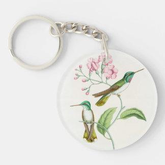 Porte-clés Faune florale d'animaux de fleurs d'oiseaux de