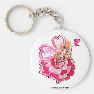 Porte-clés Fée du coeur papillon Colineandco