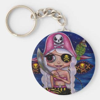 Porte-clés Fée rose de pirate