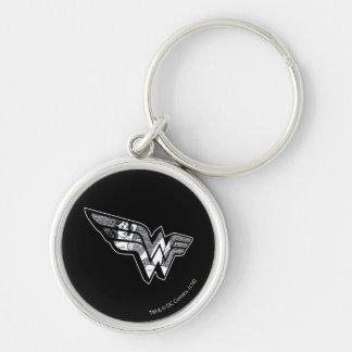 Porte-clés Femme de merveille s'asseyant dans le logo à