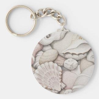 Porte-clés Feston et coquilles et cailloux de tibia dans le