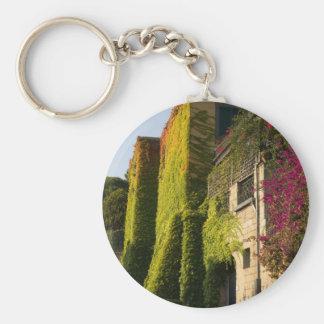 Porte-clés Feuille coloré sur des murs de maison