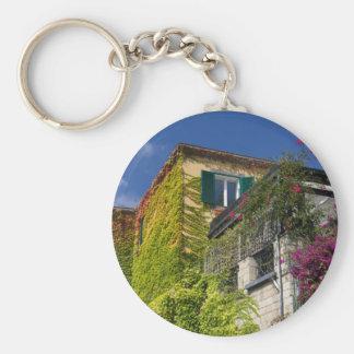 Porte-clés Feuille coloré sur la maison