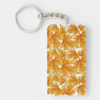 Porte-clés Feuille d'automne d'érable