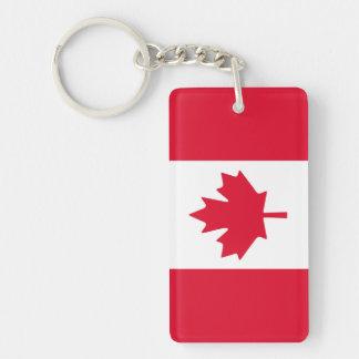 Porte-clés Feuille d'érable canadienne de drapeau Canada