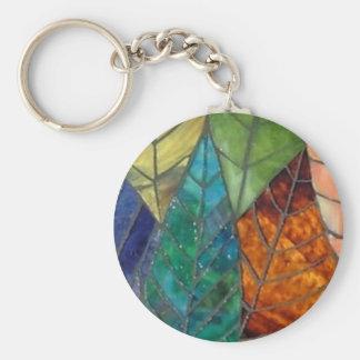 Porte-clés Feuille - porte - clé en verre souillé
