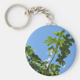 Porte-clés Figues sur des branches d'arbre