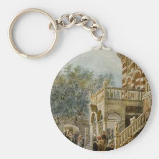 Porte-clés Figures sur la banque en Deventer Cornelis