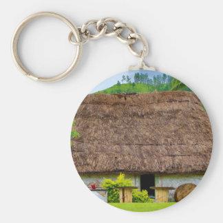 Porte-clés Fijian traditionnel Bure, village de Navala, Fidji