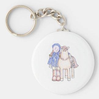 Porte-clés Fille de poney