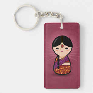 Porte-clés Fille indoue de Kokeshi