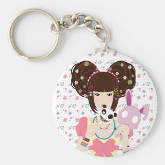 Porte-clés Fille Yuriko - arrière - plan de Harajuku
