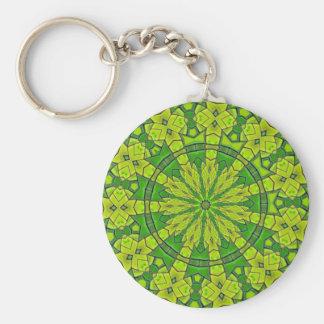 Porte-clés Fleur féminine de mandala de kaléidoscope assez