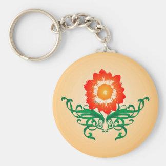 Porte-clés Fleur psychédélique : Dessin de vecteur : Porte -