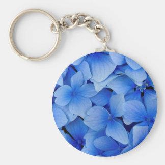 Porte-clés Fleurs bleues d'hortensia