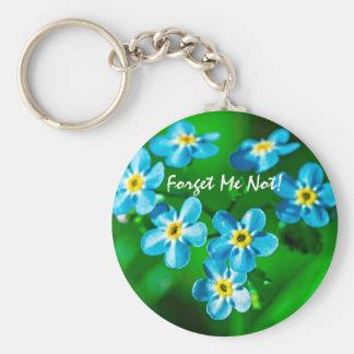 Porte-clés Fleurs de myosotis