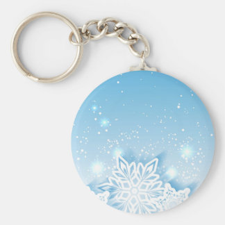 Porte-clés flocons de neige à trois dimensions