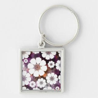 Porte-clés Flower power pourpre génial