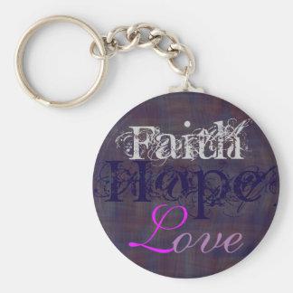Porte-clés Foi, espoir, porte - clé d'amour